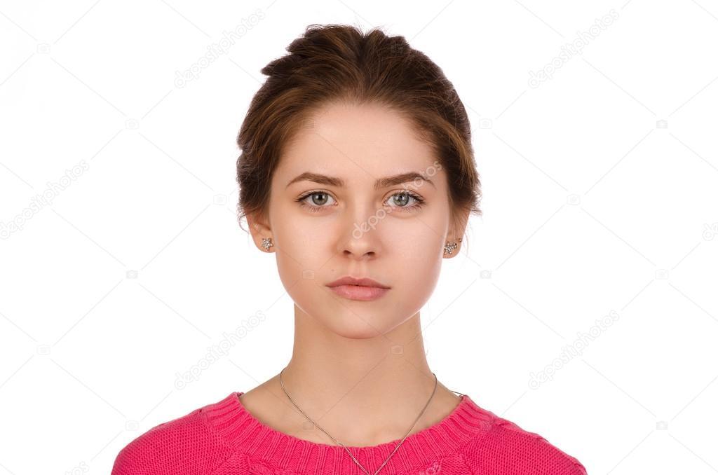 Сексуальная девушка красивыми глазами