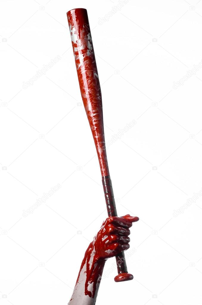 bloody hand holding a baseball bat a bloody baseball bat bat rh depositphotos com Anime Bloody Baseball Bat Baseball Bat Weapon