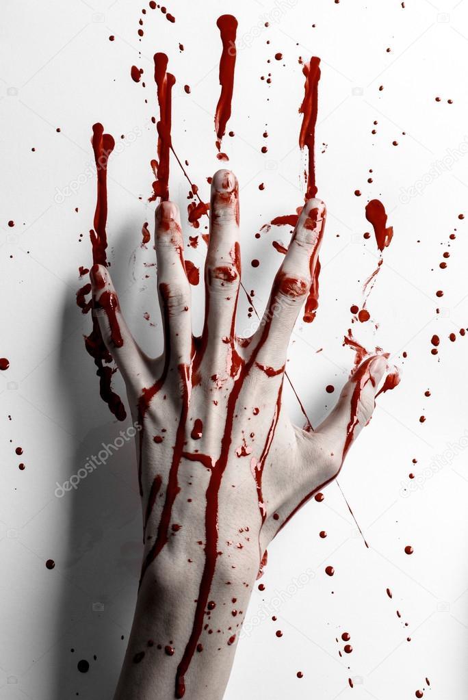 ᐈ Кровавый отпечаток руки векторные картинки, иллюстрации ... | 1023x684