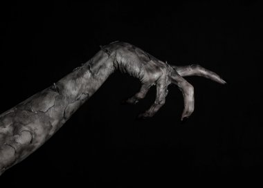 black hand of death, the walking dead, zombie theme, halloween theme, zombie hands, black background, isolated, hand of death, mummy hands, the hands of the devil, black nails, hands monster