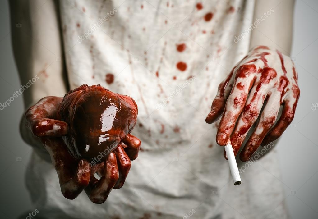 Social advertising and tobacco control: bloody hand ...