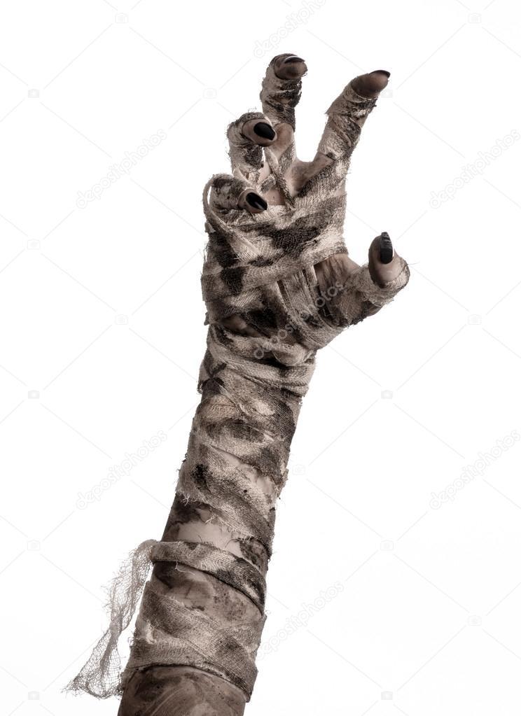 Halloween mummy hands