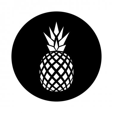 vector flat logo design of pineapple.
