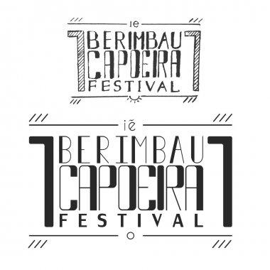 handletterin capoeira berimbau festival poster