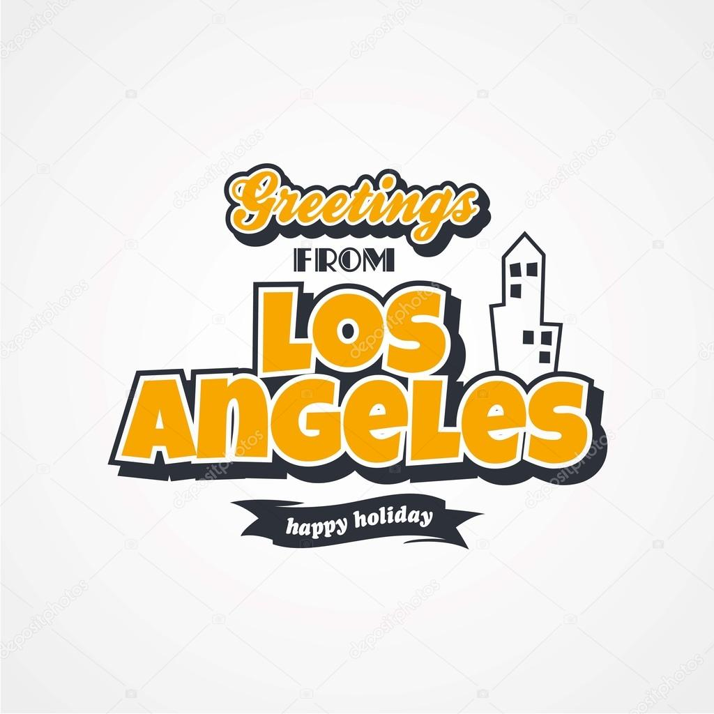 Los angeles vacation greetings stock vector vectorfirst 105602720 los angeles vacation greetings stock vector m4hsunfo
