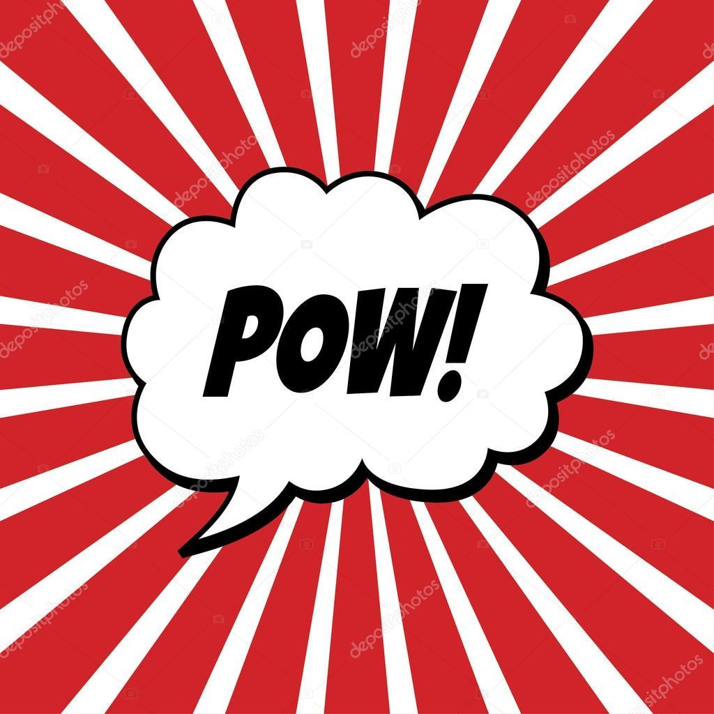 pop art comic pow � stock vector 169 vectorfirst 110352818