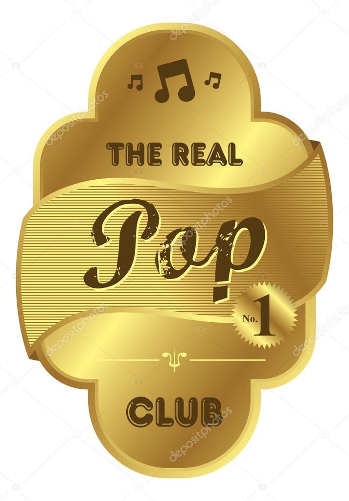 Pop Thema Musik Label Stockvektor C Vectorfirst 110353334