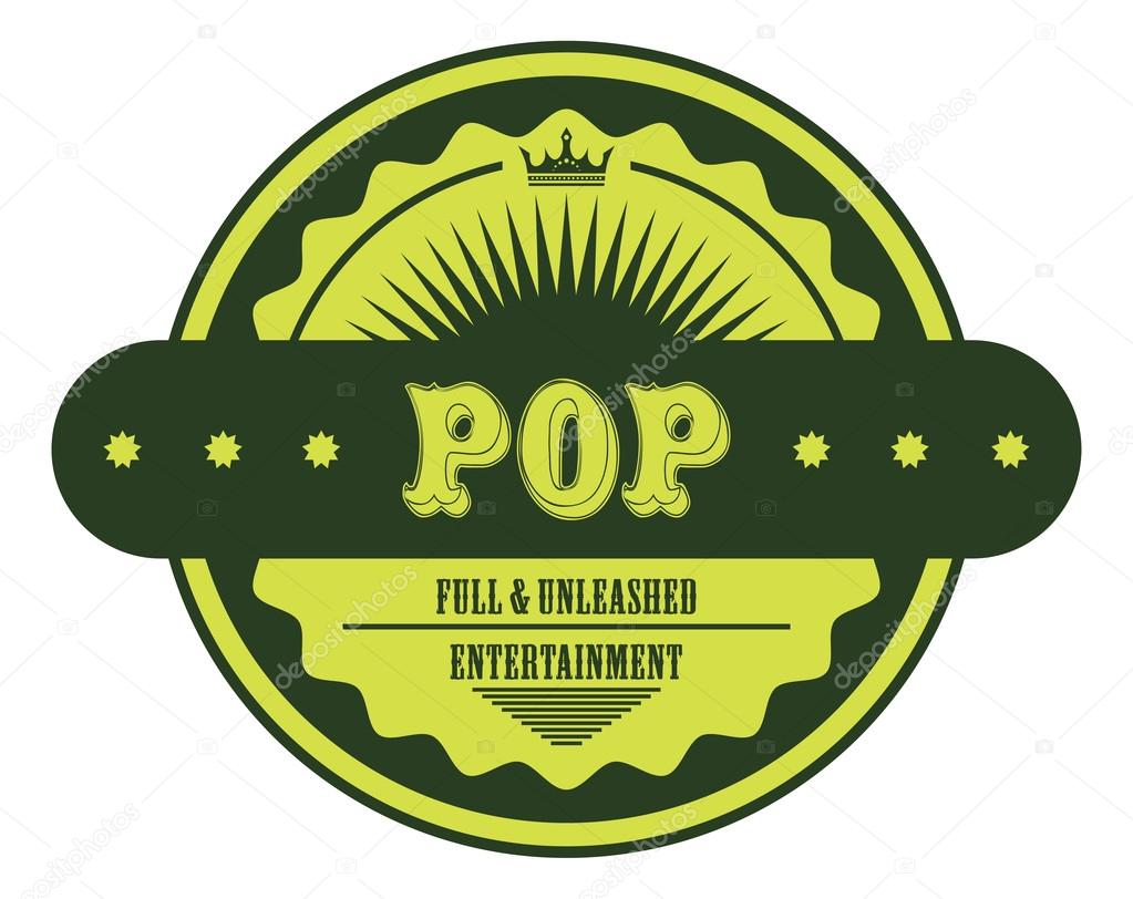 Pop Musik Genre Label Stockvektor C Vectorfirst 110357312