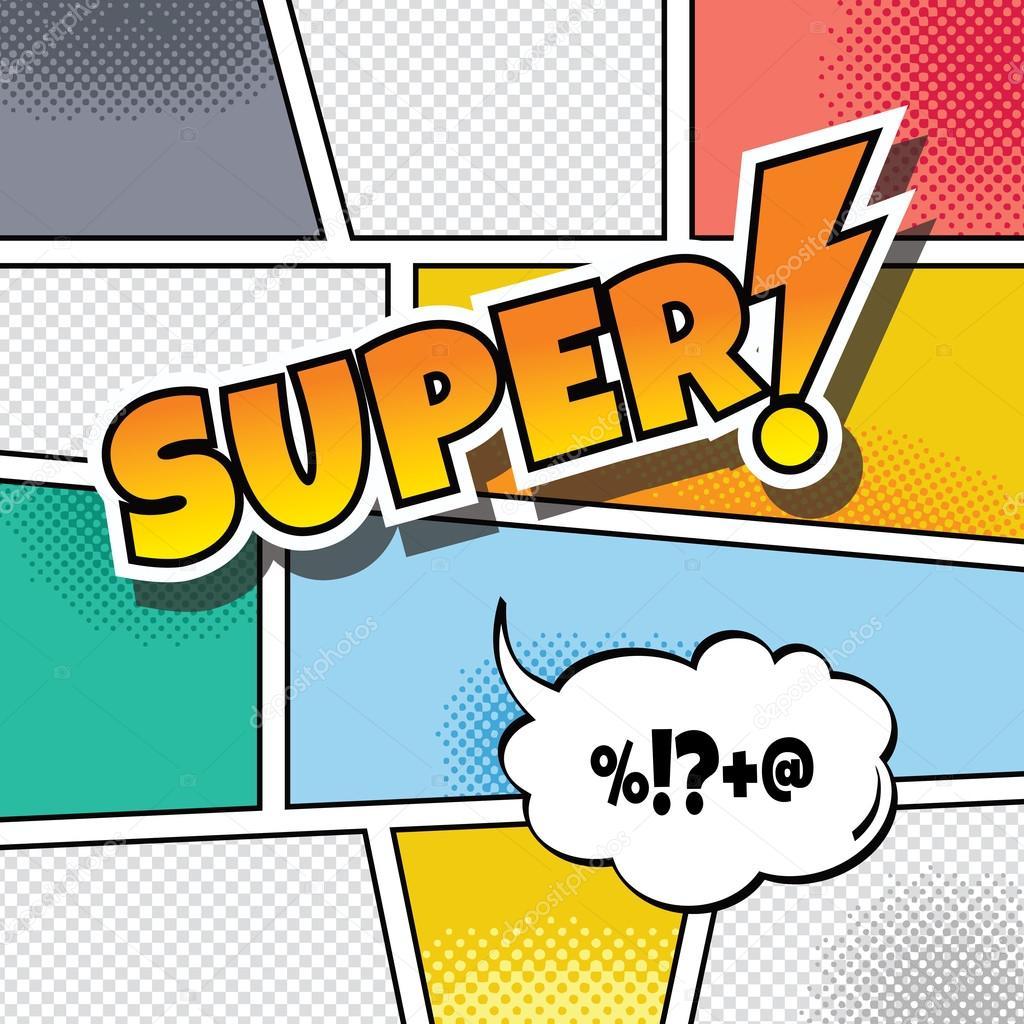 cartoon comic book template theme stock vector vectorfirst