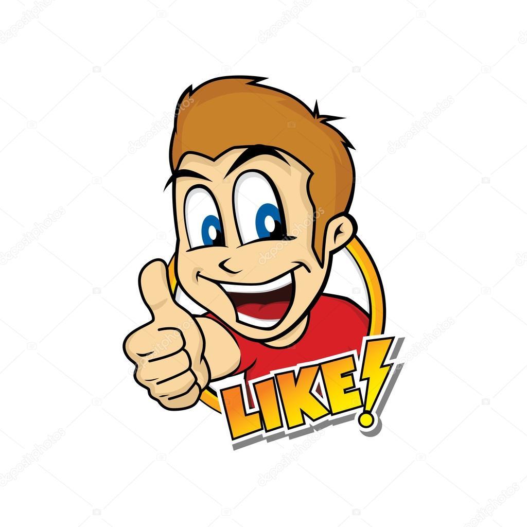 thumb up cartoon character stock vector c vectorfirst 113273584 depositphotos