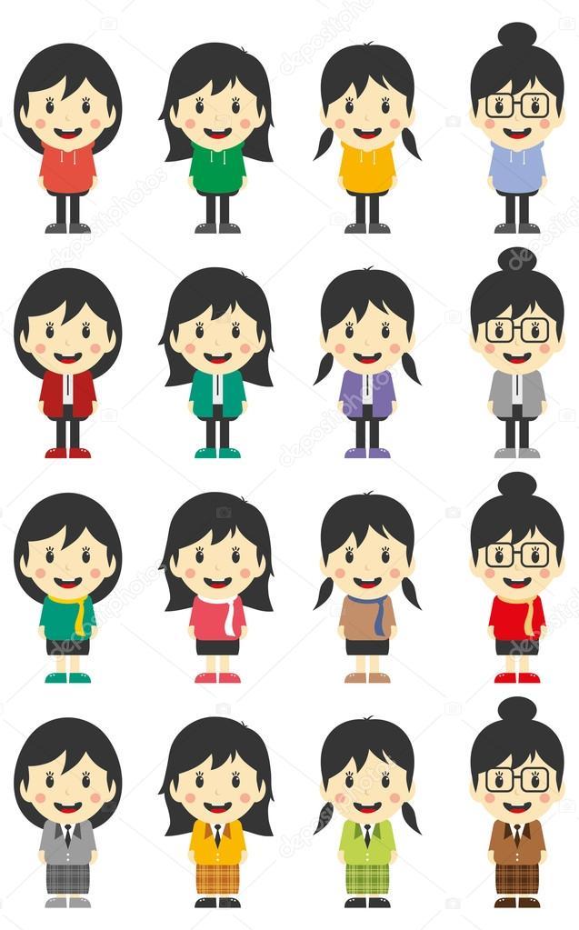 Personnage de dessin anim femme image vectorielle vectorfirst 52512877 - Image de personnage de manga ...