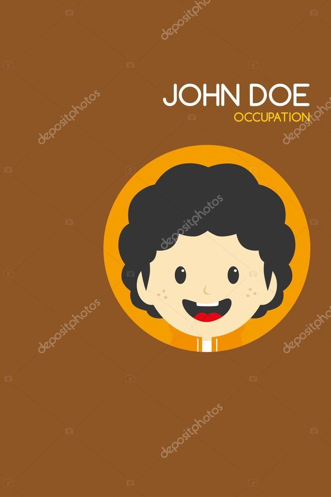 Carte De Visite Theme Cartoon Homme Image Vectorielle