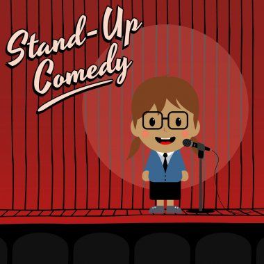 Female stand up comedian