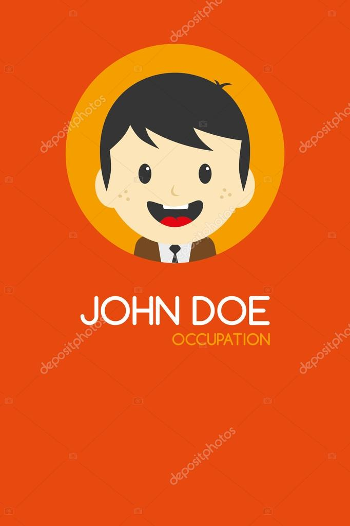 Man cartoon business card — Stock Vector © vectorfirst #58415877