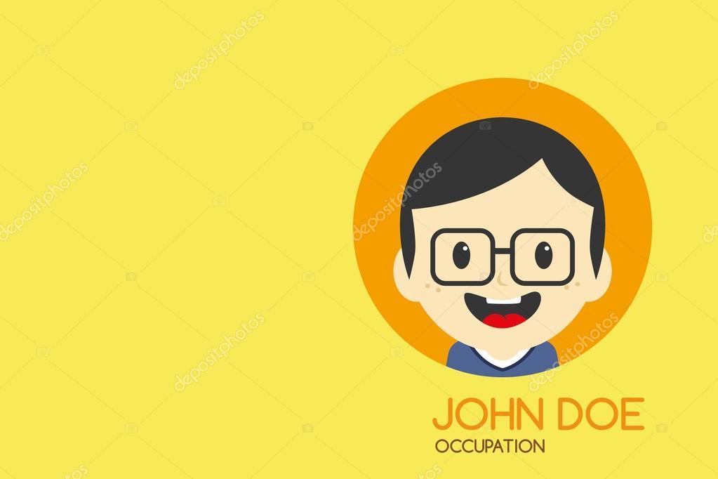 Man cartoon business card — Stock Vector © vectorfirst #58415925