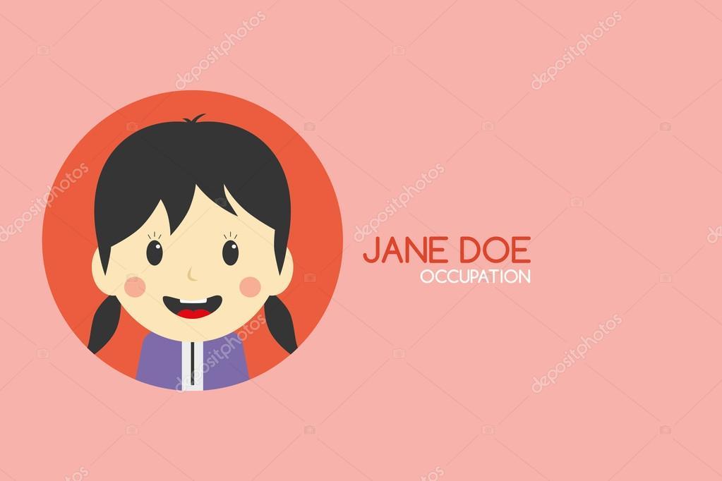 Woman cartoon business card — Stock Vector © vectorfirst #58415949