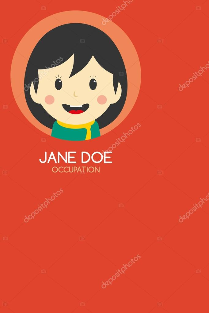 Woman cartoon business card — Stock Vector © vectorfirst #58415951