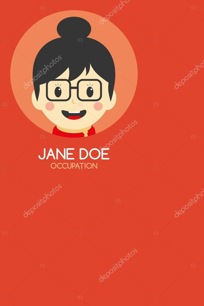 Woman cartoon business card — Stock Vector © vectorfirst #58415965