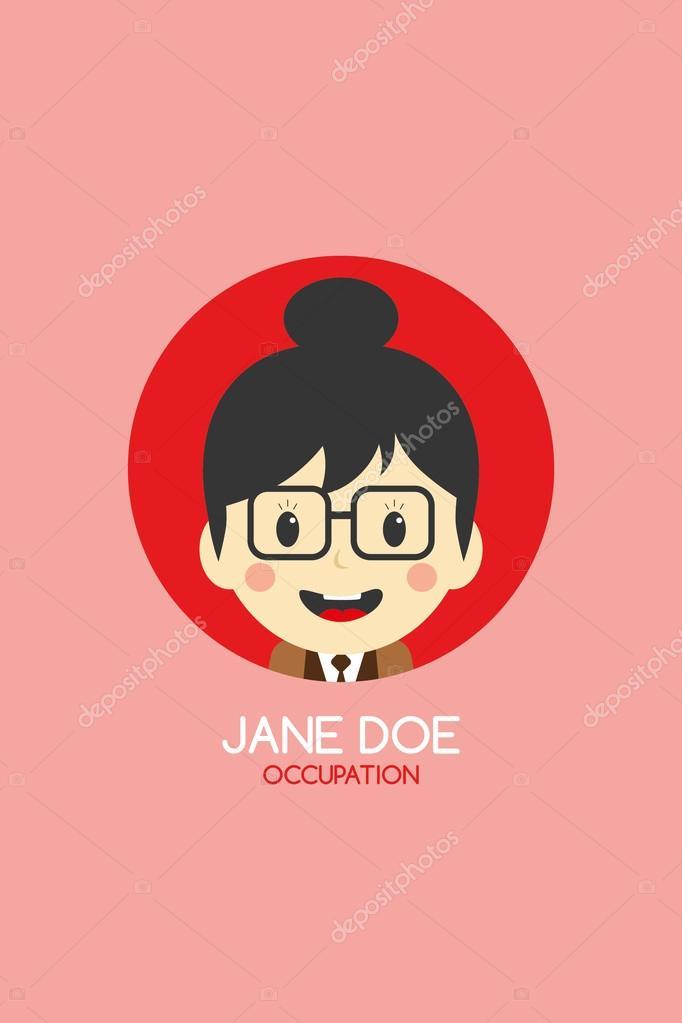 Woman cartoon business card — Stock Vector © vectorfirst #58415993