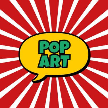 Abstract pop art background