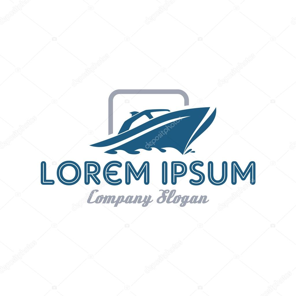 Yacht boat logo template