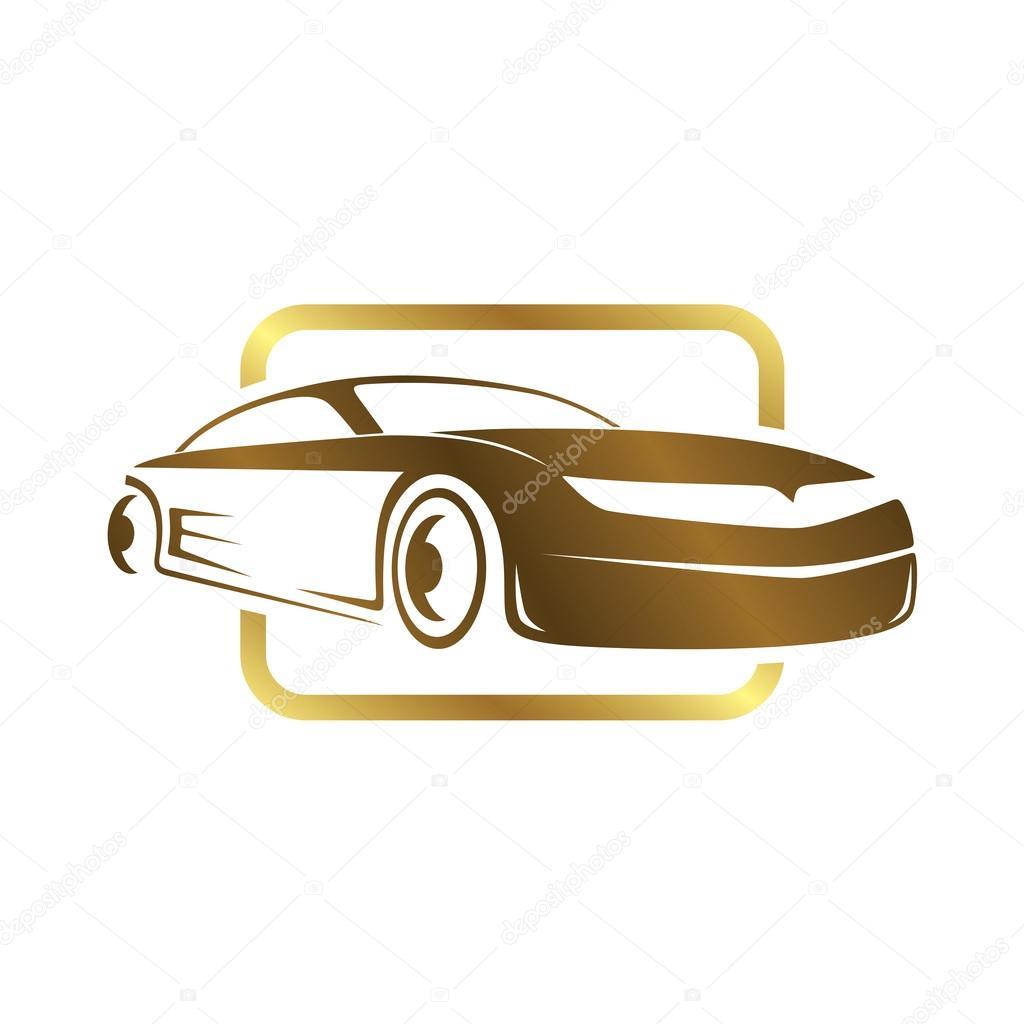Plantilla de logotipo de coche de los deportes — Vector de stock ...
