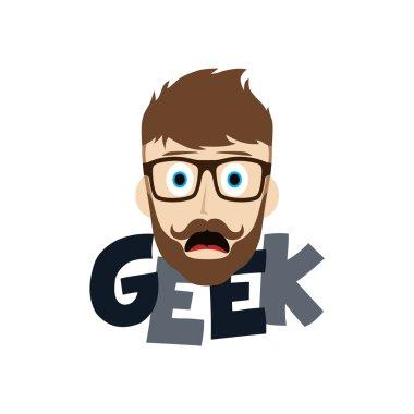 geek cartoon illustration