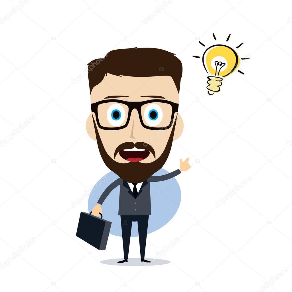 ビジネスマンのプレゼンテーション漫画 ストックベクター