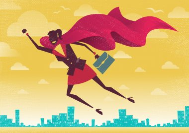 Businesswoman is a Superhero
