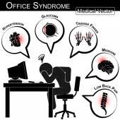 Bürosyndrom (Bluthochdruck, Glaukom, Triggerfinger, Migräne, Rückenschmerzen, Gallenstein, Blasenentzündung, Stress, Schlaflosigkeit, Magengeschwüre, Karpaltunnelsyndrom usw.) )