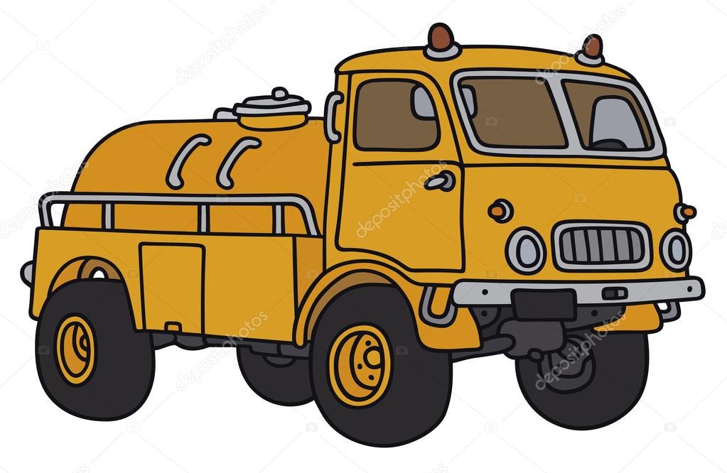 Old small terrain tank truck