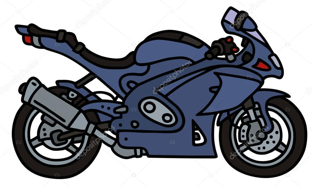 Moto bleu image vectorielle 2v 83201768 - Moto en dessin ...
