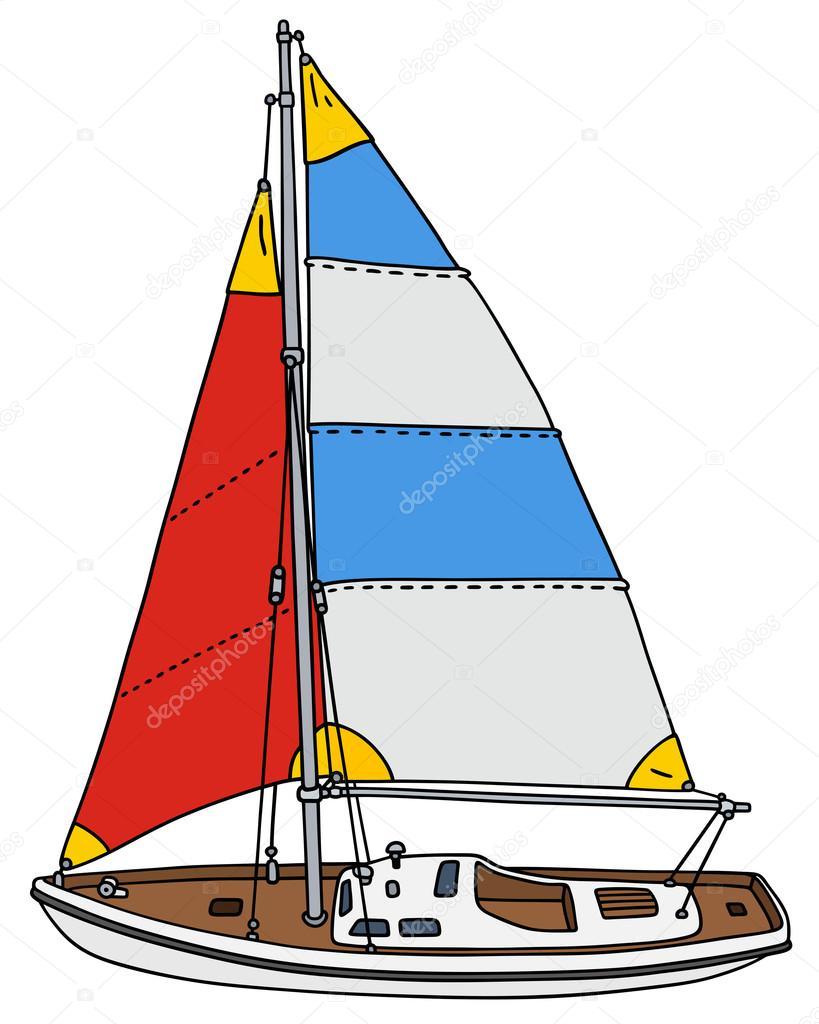 Petit voilier de couleur image vectorielle 2v 88300404 - Voilier dessin ...