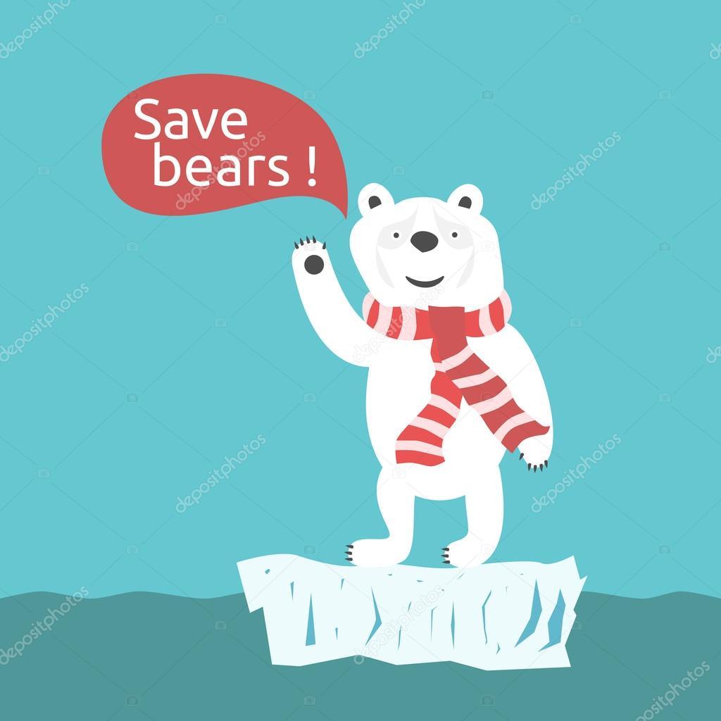 Save polar bears illustration