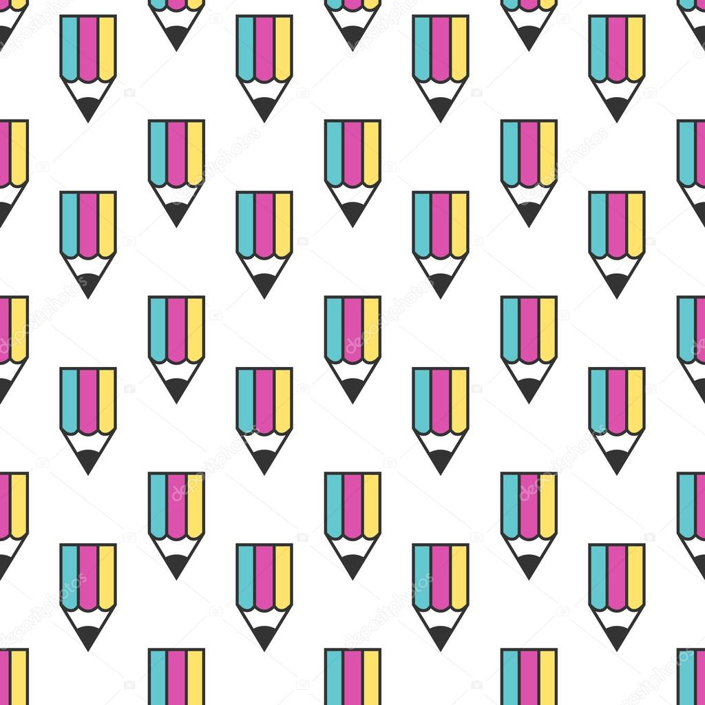 Multicolor pencil seamless pattern