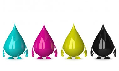 Drops characters of CMYK colors