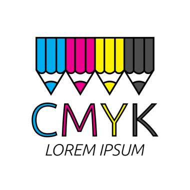 Pencils of CMYK colors