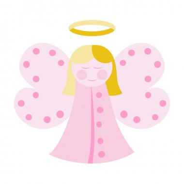 Cute angel in pink