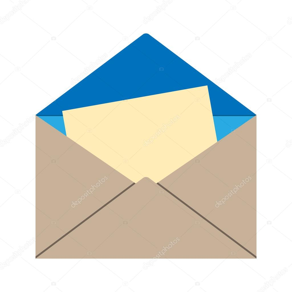 open envelope with letter stock vector