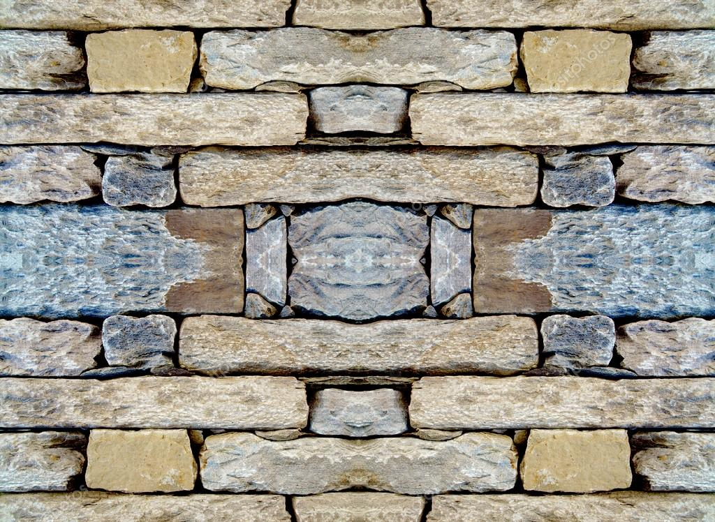 Laying Natural Stone : The laying of natural stone repeating pattern — stock