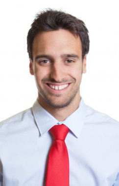 Portrait of a businessman with red tie