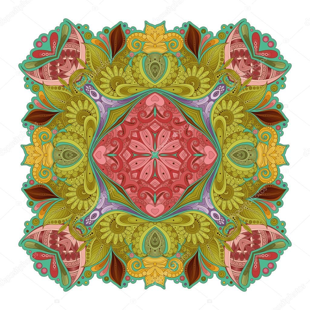 deco colored contour square stock vector krivoruchko 102657818. Black Bedroom Furniture Sets. Home Design Ideas