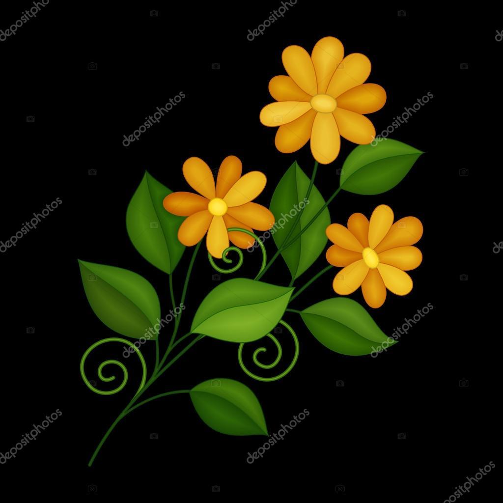 Pictures Simple Flowers To Color Contour Color Simple Flowers Stock Vector C Krivoruchko 110349726