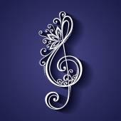 Vektorové květinové dekorativní houslový