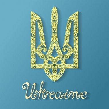 Decorative Ukrainian Trident