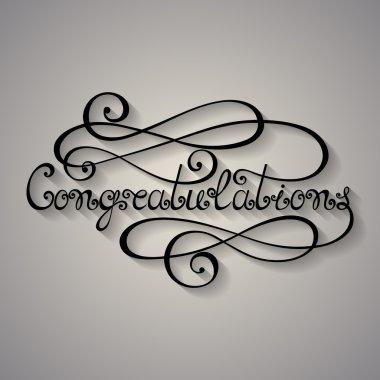 Congratulations Inscription, Holiday Invitation,