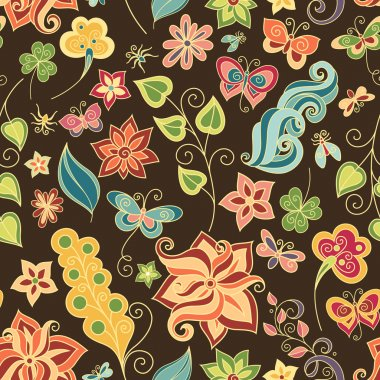 Seamless Floral Pattern (Vector)