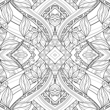 Seamless Abstract monochrome Tribal Pattern