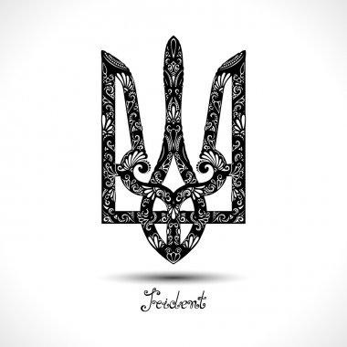 Decorative Ukrainian Trident symbol