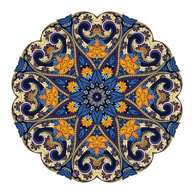 Colored Abstract Ornament Mandala